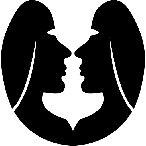 zodiac symbol of two twins faces